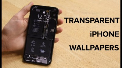 See-Through Wallpapers for iPhone X Let You See What's Inside Your Smartphone