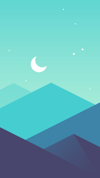 Minimal-Mountains-Moon-iPhone-Wallpaper - iPhone Wallpapers