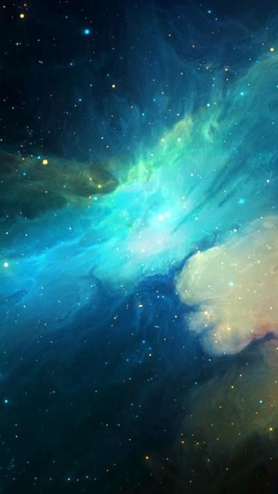 Universe-Nebula-Galaxy-Artwork-iPhone-Wallpaper - iPhone Wallpapers