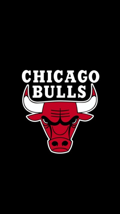 Chicago Bulls Logo Black Backbround for iPhone 5 HD Wallpapers