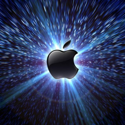 Light Behind Apple Free iPad HD Wallpaper Glowing Apple logo