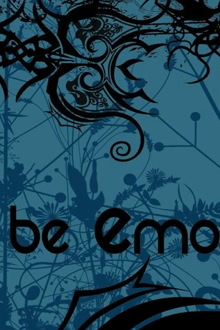 Be EMO iPhone Wallpaper and iPod touch Wallpaper | GoiPhoneWallpapers