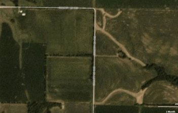 August 19 satellite image of fields with severe N stress in Monroe County, Missouri.
