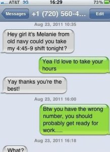 Btw you have the wrong number, you should get ready for work