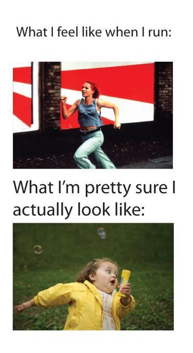 What I look like when I run