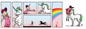 Unicorn stabbing kid