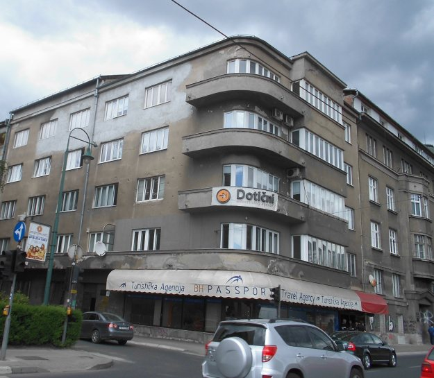 war torn building, sarajevo, bosnia