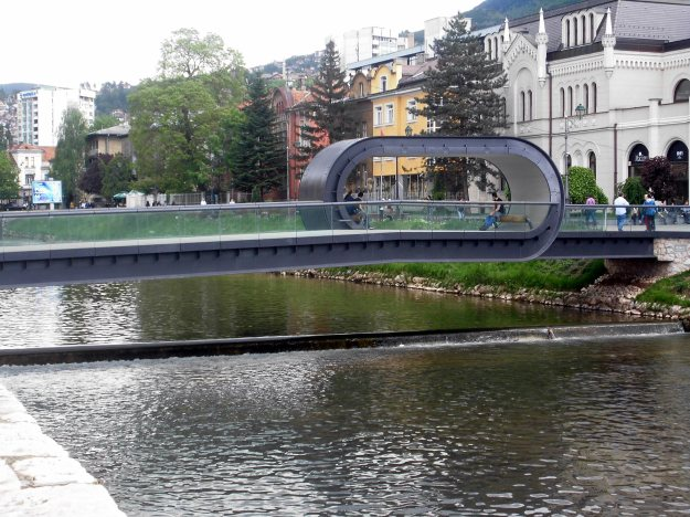 festina lente loop bridge, sarajevo, bosnia