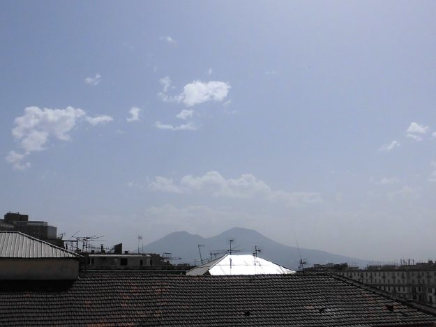 view of mount vesuvius from private terrace, sweet sleep bed and breakfast, naples, italy