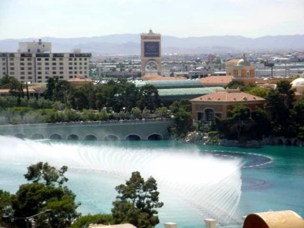 Bellagio Fountain View from Barbary Coast, Las Vegas, Nevada