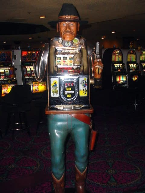 one armed bandit slot machine Frontier Las Vegas