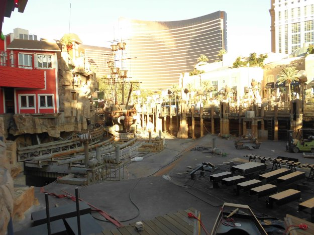 Treasure Island Las Vegas drained