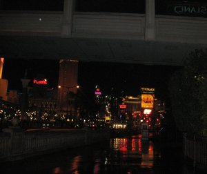 Rain on the Las Vegas strip