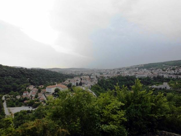 storm coming in tsarevets fortress, veliko tarnovo, bulgaria