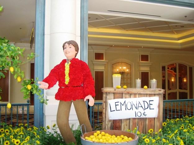 Bellagio conservatory Las Vegas lemonade
