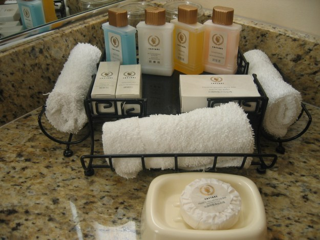 Caesars Las Vegas toiletries