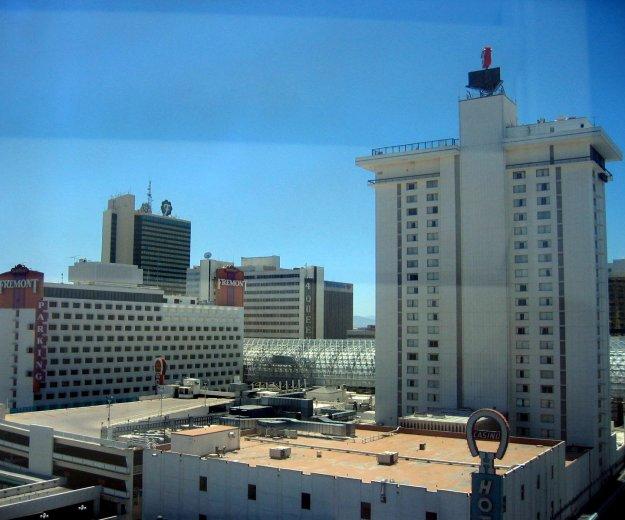 California Hotel Las Vegas room  view