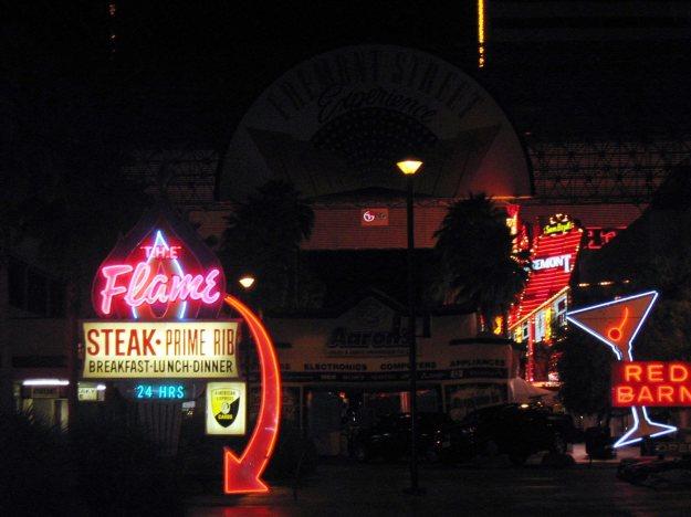 Downtown Las Vegas Neon The Flame