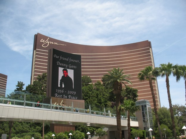 Danny Gans dark marquee outside Encore Wynn Las Vegas