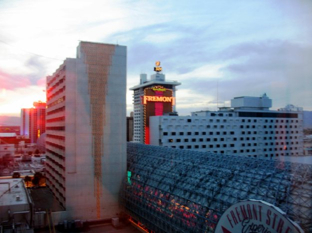 Fitzgeralds The D Las Vegas room view over Fremont Street Experience