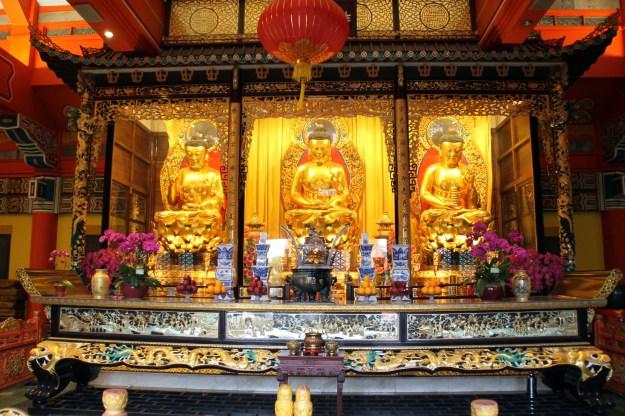 Golden Buddhas Po Lin Monastery Ngong Ping Hong Kong