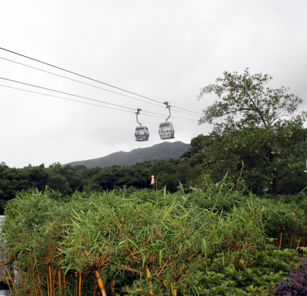 cable cars ngong ping village