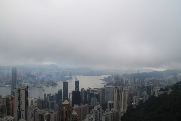 the peak fog hong kong china