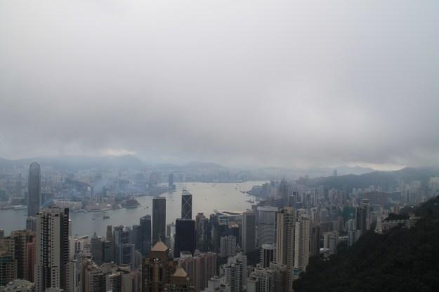 the peak fog hong kong china