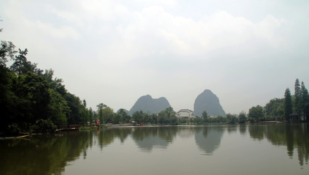 background of fanglian pool guilin china
