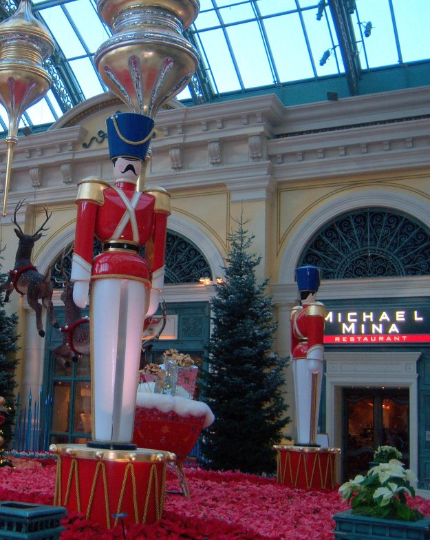 Bellagio Christmas conservatory toy soldiers Las Vegas Nevada