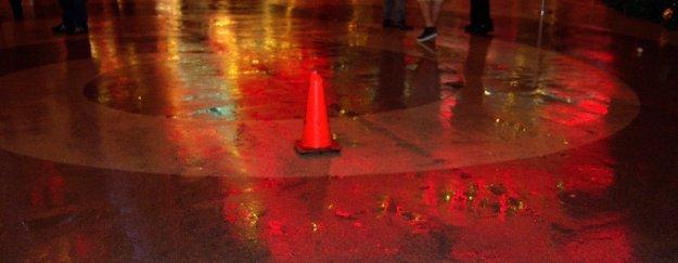 Fremont street rain
