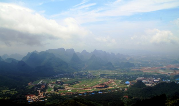 View of Guilin from Yao Mountain cable car