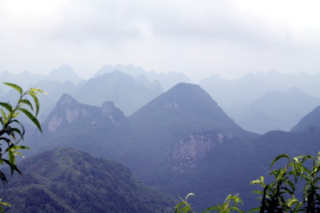 view of guilin china from yao mountain