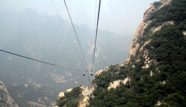 Mount Huashan cable car ride