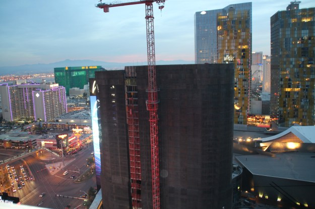 cosmopolitan las vegas terrace view of harmon