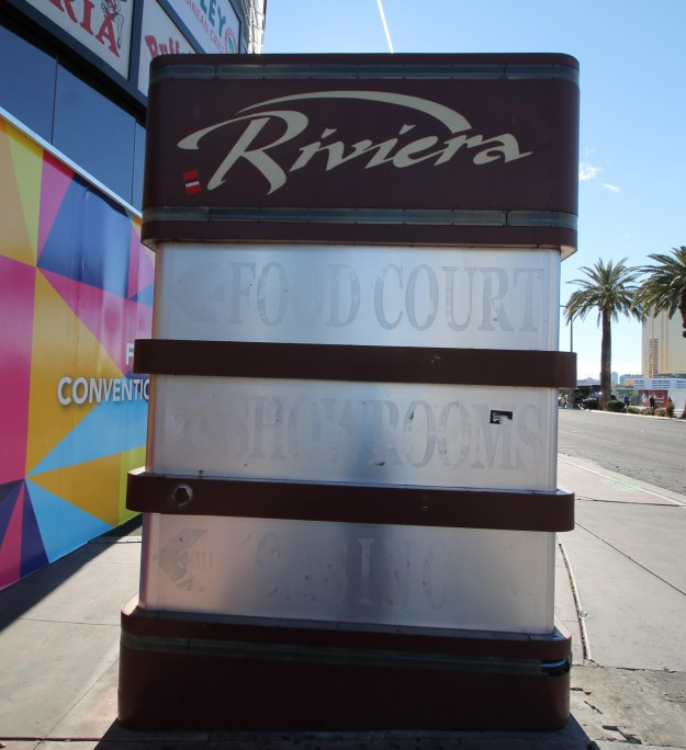 riviera las vegas food court sign