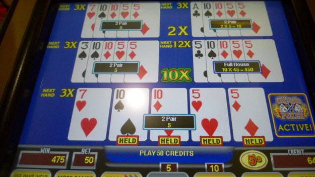 ultimate x video poker borgata atlantic city