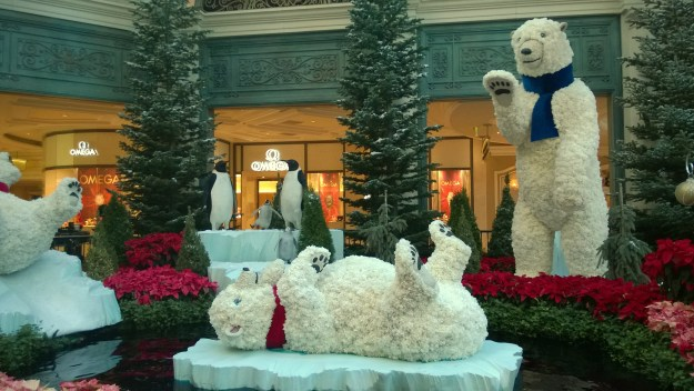 Bellagio Las Vegas conservatory Christmas bears