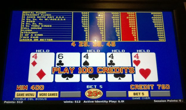 cosmopolitan las vegas video poker fours