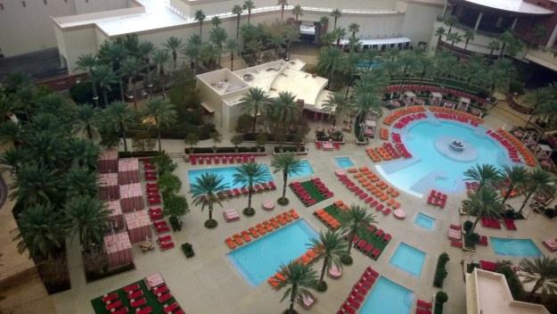 red rock las vegas room view of pool