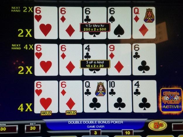 Ultimate X Double Double bonus sixes x 2 cromwell las vegas