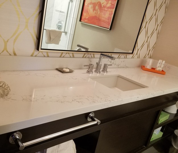 california hotel las vegas remodeled bathroom