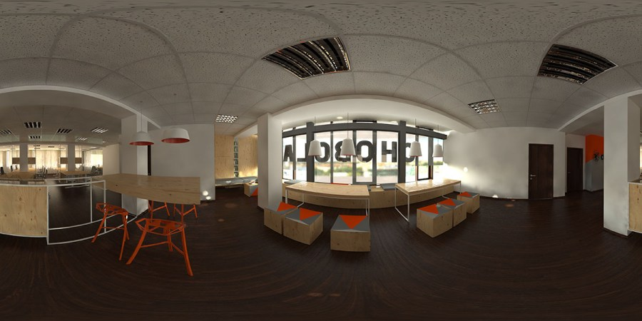 360 degree render for the interior design project for Chobolabs архитектурна визуализация
