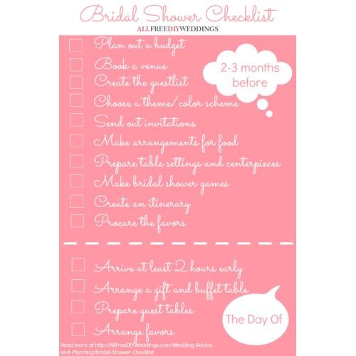 Medium Crop Of Bridal Shower Checklist