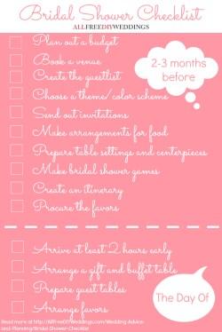 Small Of Bridal Shower Checklist