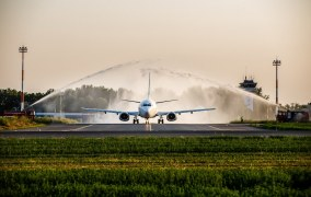 Inaugurarea rutei aeriene Iaşi-Madrid