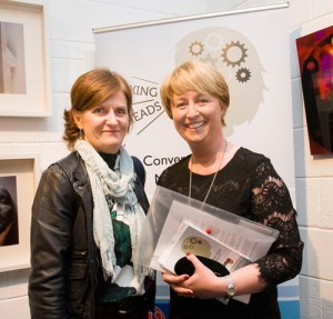 Maeve Hickey and Dr. Gillian Moore Groarke at the exhibition opening (photo Stefan Syrowatka)