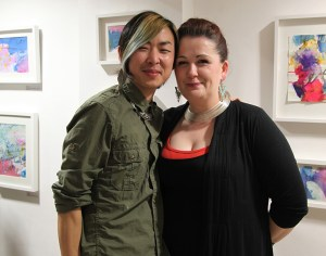 Artists Jin Yong and Cathriona Cleary at the exhibition opening. (photo Liam Madden)