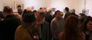 Some of the attendance at the Tom Mathews Exhibition opening in the Ranelagh Arts Centre