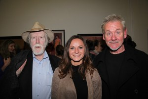 Artists Ray Sherlock, Lucie Pacovska and Dave Gleeson at the opening (photo Liam Madden)